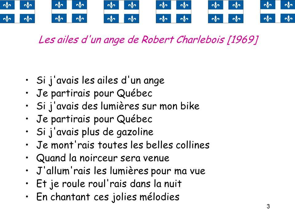 Les ailes d un ange de Robert Charlebois [1969]